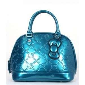 Teal Hello Kitty Embossed Handbag