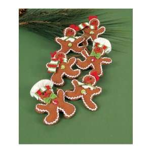 Pack of 3 Candy Crush Fabric Gingerbread Christmas Garland 32