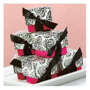 Hot Pink Damask Wedding Favor Boxes Set of 25 Everything