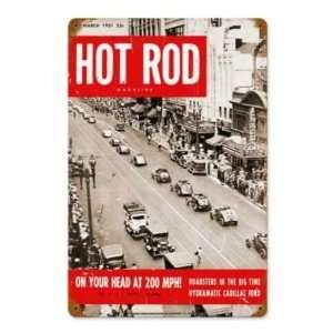 Hot Rod Magazine 1951 N.Y.C. Roadsters Metal Sign