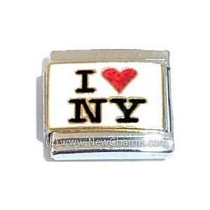 I Love New York Italian Charm Bracelet Jewelry Link