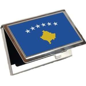 Kosovo Flag Business Card Holder