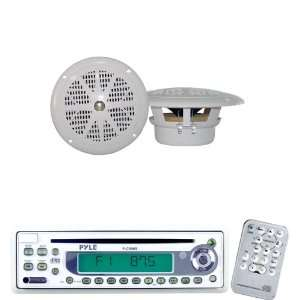 Pyle Marine Radio Receiver and Speaker Package   PLCD9MR AM/FM MPX In
