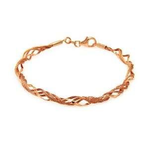 4.3MM Sterling Silver Italian Bracelets Rose Gold Plated