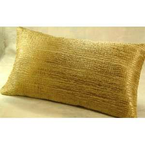 Lumbar Pillow in a Gold Grass Weave Office Products