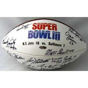 1969 New York Jets Team Signed Football   Namath Sports