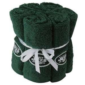 New York Jets Green 6 Pack Team Washcloth Set Sports
