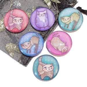 The Black Cat Jewellery Store Happy Cats Glass Tile Fridge