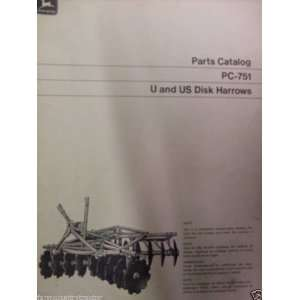John Deere U & US Disk Harrow OEM Parts Manual John Deere Books