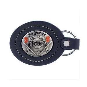 Large Leather & Pewter MLB Key Ring   San Francisco Giants