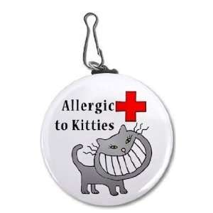 Clam Allergic To Cats Medical Alert 2.25 Inch Clip Tag: Pet Supplies