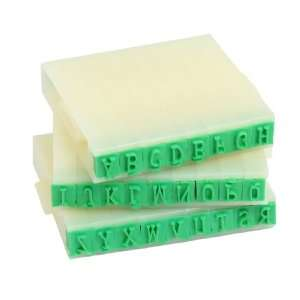 Plastic Rubber English Letters Alphabet Stamp Set: Office Products