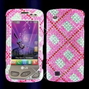 Premium   LG VX8575/Chocolate Touch Full Diamond Hot Pink Plaid Cover