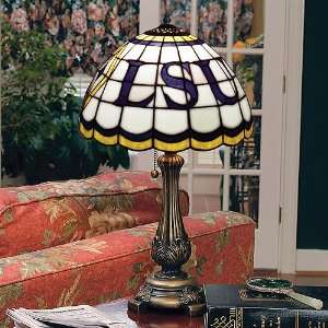 LSU Tigers Stained Glass Tiffany Table Lamp Sports