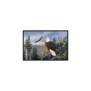 Majestic Pair  (American Bald Eagles) Wildlife Rug 36
