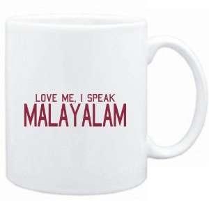 Mug White  LOVE ME, I SPEAK Malayalam  Languages  Sports