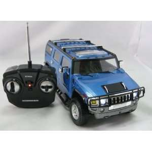 116 GM Hammer H2 RC Car/Radio Control Car Blue Toys & Games