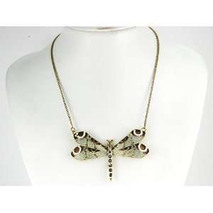Realistic Moth Wing Dragonfly Big Insect Faux Pearl Detail