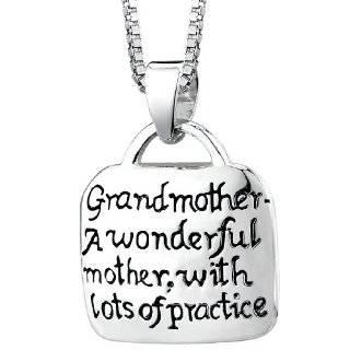 Grandma Grandmother Silver Pendant Necklace Chain
