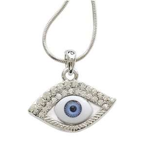 Eye Crystal Eye Lash Charm Pendant Necklace Fashion Jewelry Jewelry