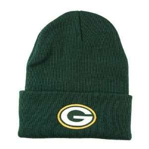 NFL Green Bay Packers Green Cuffed Embroidered Beanie Hat