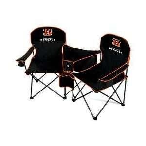 Cincinnati Bengals NFL Deluxe Folding Conversation Arm Chair by