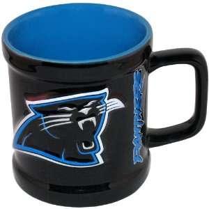 NFL Football Team Sculpted Logo Coffee Mug   Carolina Panthers