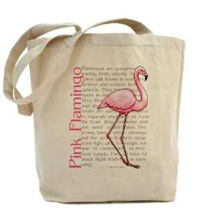 Pink Flamingo Heavyweight Canvas Tote Bag