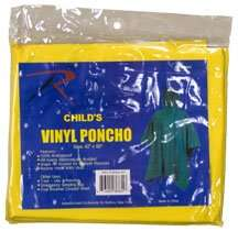 Yellow Kids Vinyl Poncho: Clothing