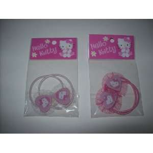 Kitty Hair Accessory Set of Ponytail Holders TWO DIFFERENT STYLES
