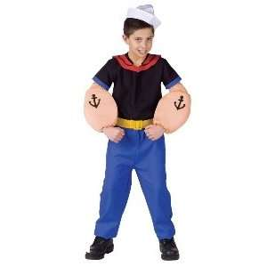 Popeye the Sailor Man Child Costume Size 4 6 Small (M40) Toys & Games