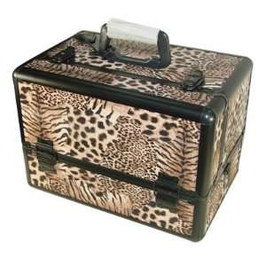 Seya Leopard Tiger Print Professional Makeup Train Case Beauty