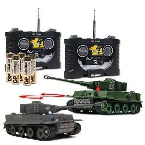 Combat Tank RC Mini German Tiger I Tanks R/C 1:70 Infrared Battle Tank