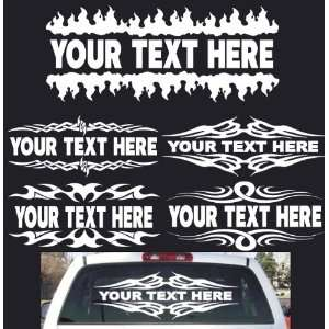 Custom Rear Window Decal Sign / Banner 5 Different Styles Your Text 36
