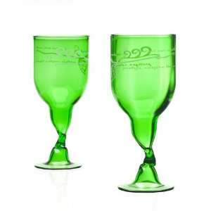 Recycled Wine Bottle Glasses   Green: Everything Else