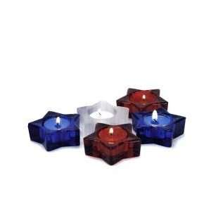 Red White and Blue Star Tea Light Holders Home & Kitchen