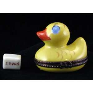 Rubber Duck with Soap Rochard French Limoge Box  Home