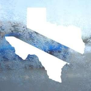 Texas State Diving Flag White Decal Scuba Dive Car White