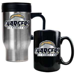 San Diego Chargers NFL Travel Mug & Ceramic Mug Set