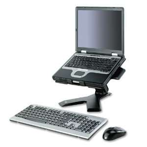 Easy Adjust Laptop Riser Stand Black