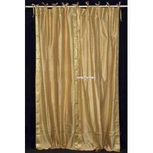 Golden Tie Top Sari Sheer Curtain (43 in. x 84 in.): Home & Kitchen
