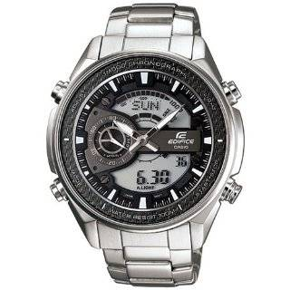 Edifice Solar Powered Stainless Steel Bracelet and Black Dial Watch