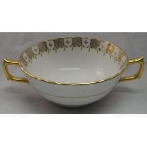 Royal Crown Derby Heraldic Gold Cream Soup Bowl