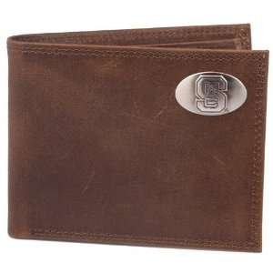 Brown Leather Crazyhorse Concho Billfold Wallet