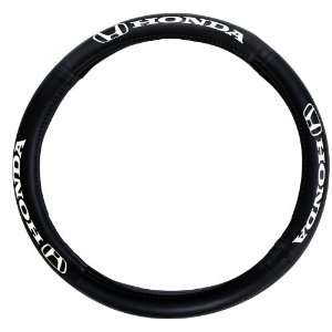 Automotive SW 161 Genuine Leather Steering Wheel Cover with Honda Logo