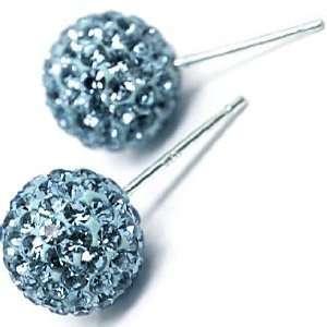 8MM TORQOUISETorqouise crystal,Silver Swarovski crystal earrings
