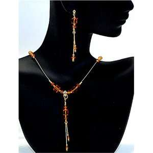 Fancy Swarovski Crystal Necklace Earings Jewelry Gift Set