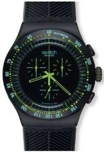 Swatch Irony Chrono Green in Dark Black Dial Mens watch