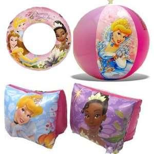 Disney Princess Beach Fun Swimming Set Includes Inflatable Swim Ring