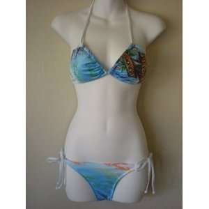 White Death Before Dishonor 2009 Swimsuit Bikini Rhinestone Size Small